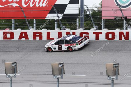 Brad Keselowski (2) competes during the NASCAR Cup Series auto race, in Darlington, S.C