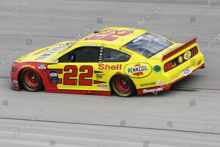 Joey Logano (22) drives during the NASCAR Cup Series auto race, in Darlington, S.C