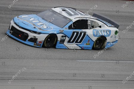 Quin Houff (00) drives during the NASCAR Cup Series auto race, in Darlington, S.C