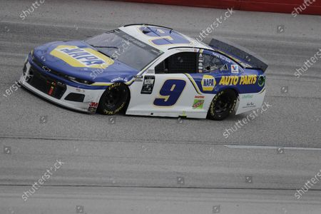 Chase Elliott (9) drives during the NASCAR Cup Series auto race, in Darlington, S.C