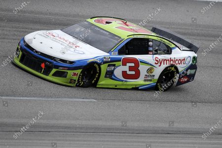 Austin Dillon (3) drives during the NASCAR Cup Series auto race, in Darlington, S.C