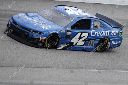 Matt Kenseth (42) drives during the NASCAR Cup Series auto race, in Darlington, S.C