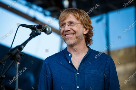 """Trey Anastasio performs during """"If I Had A Song"""", the finale the 60th annual Newport Folk Festival 2019 at Fort Adams State Park on July 28, 2019 in Newport, Rhode Island."""