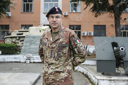 Colonel Paolo Stella, commander of the Italian 7th CBRN Defense Regiment 'Cremona', poses for a photograph as soldiers of his unit are deployed to sanitized health facilities in Capena, near Rome, Italy, 17 May 2020. The 'Cremona' regiment is a specialized unit of the the Italian Army to fight CBRN (Chemistry, Bacterial, Radiological, Nuclear) hazards. The unit was the first and only deployed in Bergamo and Brescia to sanitize hospital facilities in cooperation with Russians soldiers to respond to the COVID-19 disease caused by the SARS-CoV-2 coronavirus.