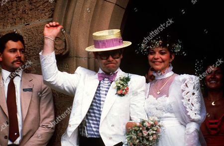 WEDDING OF ELTON JOHN AND RENATE BLAUEL