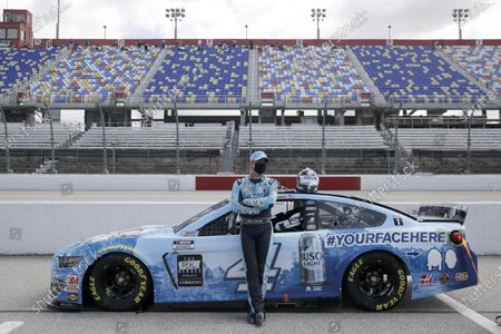 Stock Image of Kevin Harvick waits for the start of the NASCAR Cup Series auto race, in Darlington, S.C