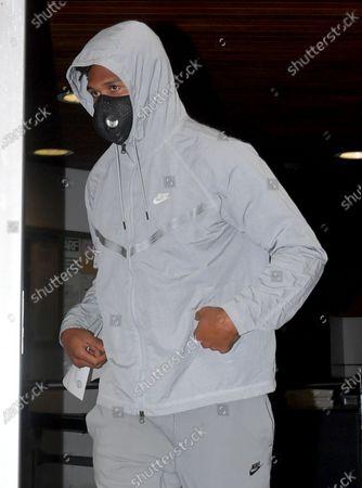 Quinton Dunbar leaving Broward County Jail, Fort Lauderdale