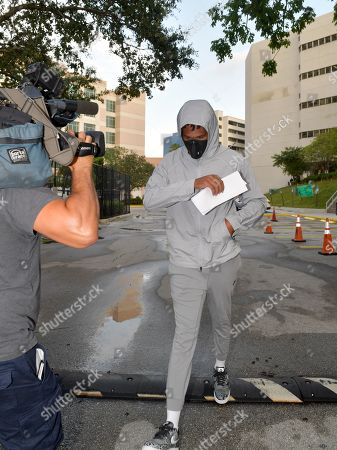 Editorial picture of Quinton Dunbar leaving Broward County Jail, Fort Lauderdale, Florida, USA - 17 May 2020
