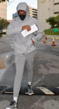 Editorial image of Quinton Dunbar leaving Broward County Jail, Fort Lauderdale, Florida, USA - 17 May 2020