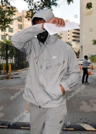 Editorial photo of Quinton Dunbar leaving Broward County Jail, Fort Lauderdale, Florida, USA - 17 May 2020