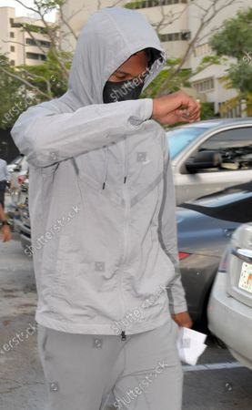 Seattle Seahawks corner Quinton Dunbar makes bail and is seen here leaving the Broward County Jail