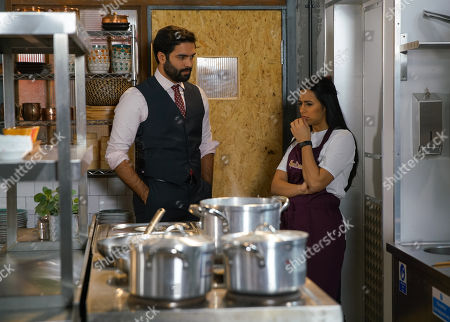 Ep 10070 Wednesday 3rd June 2020 Having gone through Geoff's bank accounts, Imran Habeeb, as played by Charlie de Melo, confides in Alya Nazir, as played by Sair Khan, that he's been frequenting a hotel bar in town. Yasmeen later reluctantly admits that he's been hiring escorts.
