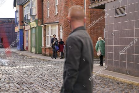 Ep 10070 Wednesday 3rd June 2020 Imran Habeeb, as played by Charlie de Melo, approaches Kelly, as played by Millie Gibson, wanting to know how he can get in touch with her Dad. Gary Windass, as played by Mikey North, clocks their exchange.