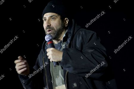 Comedian Dave Attell performs