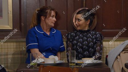 Ep 8797 Friday 29th May 2020 When it's clear Wendy, as played by Susan Cookson, wants to have another chance with Bob, Manpreet Sharma, as played by Rebecca Sarker, suggests she writes him a letter.