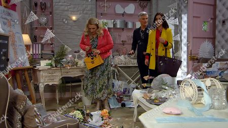 Ep 8794 Friday 22nd May 2020 Leanna loathing Leyla more and more, when the wedding office gets trashed Leyla Harding, as played by Rokhsaneh Ghawam-Shahidi, know exactly who to blame...