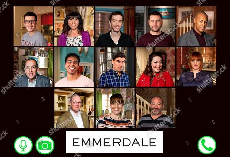 Emmerdale phases back to filming by recording special  lockdown episodes - featuring Vinny, as played by Bradley Johnson ; Chas Dingle, as played by Lucy Pargeter ; Marlon Dingle, as played by Mark Charnock ; Aaron Livesy, as played by Danny Miller ; Al Chapman, as played by Michael Wildman ; Sam Dingle, as played by James Hooton ; Ellis Chapman, as played by Aaron Anthony ; Cain Dingle, as played by Jeff Hordley ;  Mandy Dingle, as played by Lisa Riley ; Nicola King, as played by Nicola Wheeler ; Paddy Kirk, as played by Dominic Brunt ; Lydia Hart, as played by Karen Blick ; Jimmy King, as played by Nick Miles.