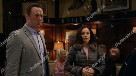 Ep 8792 Monday 18th May 2020 Liam Cavanagh, as played by Jonny McPherson, and Leanna Cavanagh set up a make-up dinner.. But when Leanna is late she fumes to see Liam is with Leyla Harding, as played by Rokhsaneh Ghawam-Shahidi.