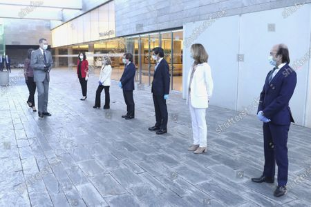 King Felipe VI, Queen Letizia attend the presentation of the CETOTEC 2020 report at Telefonica Headquarters