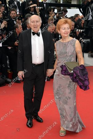 Michel Piccoli with wife on red carpet