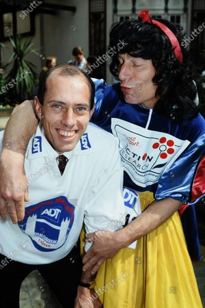 Steve Ovett and Snow White c.1992