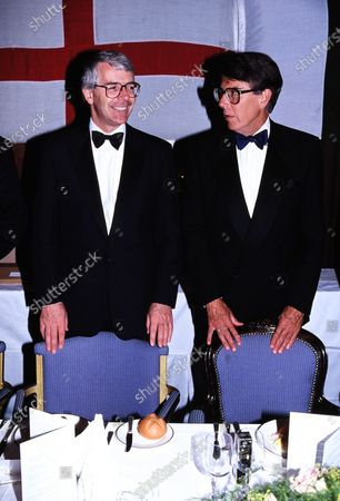 Sir John Major and Leslie Crowther c.1995