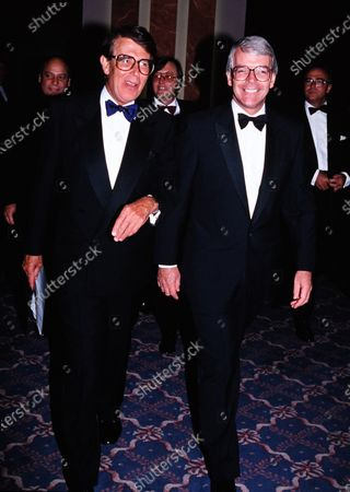 Stock Picture of Sir John Major and Leslie Crowther c.1995