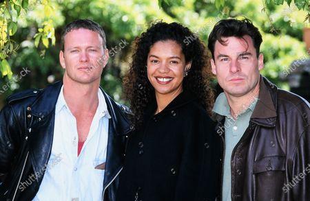 L-R Craig McLachlan, Jaye Griffiths and Jesse Birdsall-Bugs cast c.1995