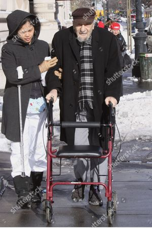 Editorial photo of Mitch Miller Out and About in New York, America - 20 Dec 2009