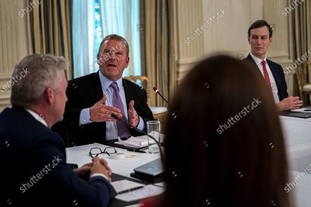 Editorial photo of Roundtable with Restaurant Executives and Industry Leaders in the State Dining Room, Washington, USA - 18 May 2020