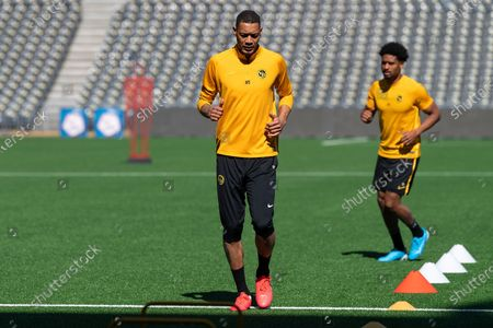 First training by BCS Young Boys after the stop due to coronavirus, # 99 Guillaume Hoarau (Young Boys).