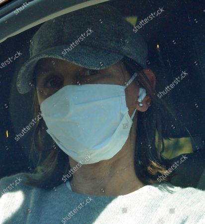 Editorial picture of Exclusive - Calista Flockhart out and about, Santa Monica, Los Angeles, USA - 18 May 2020