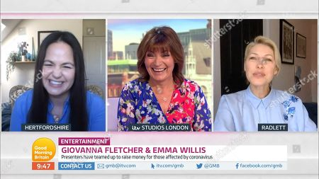 Stock Image of Lorraine Kelly, Emma Willis and Giovanna Fletcher