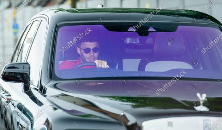 Liverpool's Alex Oxlade-Chamberlain arrives for a training session to the Melwood training facility in Liverpool, Britain, 19 May 2020. English Premier League clubs resumed training activities in small groups amid the ongoing SARS-CoV-2 coronavirus pandemic which causes the COVID-19 disease.