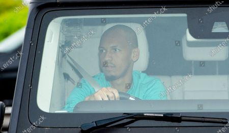 Liverpool's Fabinho arrives for a training session to the Melwood training facility in Liverpool, Britain, 19 May 2020. English Premier League clubs resumed training activities in small groups amid the ongoing SARS-CoV-2 coronavirus pandemic which causes the COVID-19 disease.