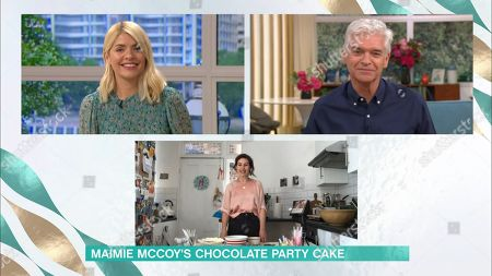 Stock Photo of Phillip Schofield, Holly Willoughby and Maimie McCoy
