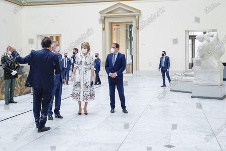 Editorial photo of Belgian Royals visit Royal Museum Of Fine Arts, Brussels, Belgium - 19 May 2020