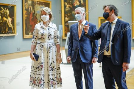 Belgian Royals visit Royal Museum Of Fine Arts, Brussels