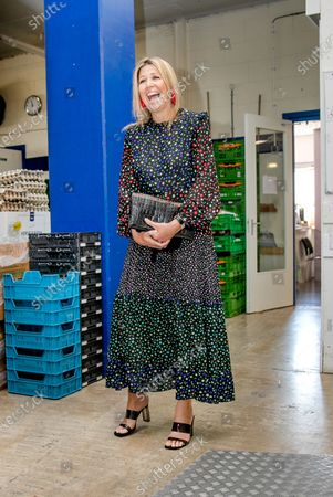 Queen Maxima visit to distribution center of the Food Bank, Delft