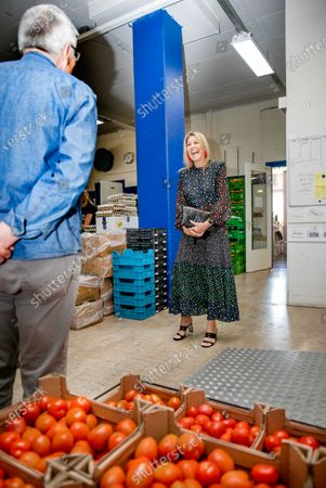 Queen Maxima during a working visit to the distribution center of the Food Bank Delft. The Delft Food Bank Foundation wants to contribute to the fight against poverty by distributing weekly food packages to people who are (temporarily) in financial need.The visit takes place in the context of the outbreak of the corona virus (COVID-19).