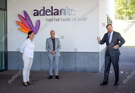 King Willem Alexander visit to Adelante rehabilitation center, Hoensbroek