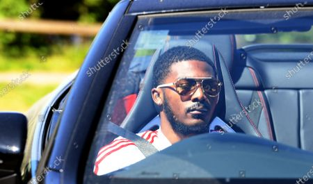 Arsenal's Ainsley Maitland-Niles arrives at the English Premier League side's training complex at London Colney, near St Albans, Britain, 19 May 2020. English Premier League clubs resumed training activities in small groups as Britain's lockdown eases amid the ongoing SARS-CoV-2 coronavirus pandemic which causes the COVID-19 disease.