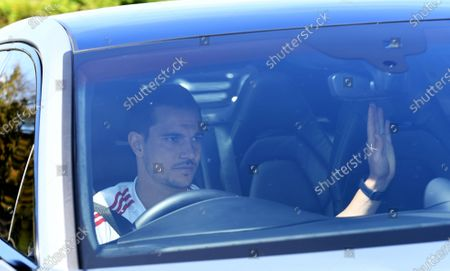 Arsenal's Cedric Soares arrives at the English Premier League side's training complex at London Colney, near St Albans, Britain, 19 May 2020. English Premier League clubs resumed training activities in small groups as Britain's lockdown eases amid the ongoing SARS-CoV-2 coronavirus pandemic which causes the COVID-19 disease.