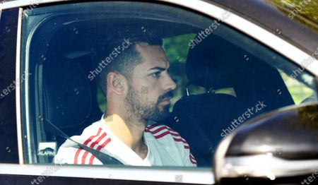Arsenal's Pablo Mari arrives at the English Premier League side's training complex at London Colney, near St Albans, Britain, 19 May 2020. English Premier League clubs resumed training activities in small groups as Britain's lockdown eases amid the ongoing SARS-CoV-2 coronavirus pandemic which causes the COVID-19 disease.