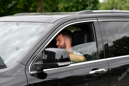 Miralem Pjanic of Juventus exit in his car to resume training after a quarantine on May 19, 2020 at the club's Continassa training ground in Turin, as the country's lockdown is easing after over two months, aimed at curbing the spread of the COVID-19 infection, caused by the novel coronavirus.