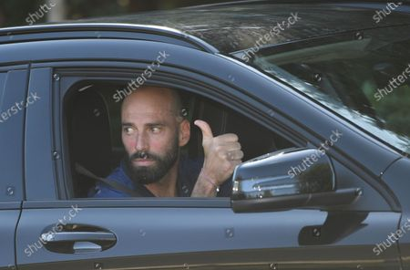 Chelsea's Willy Caballero leaves training in London, Britain, 19 May 2020. English Premier League clubs resumed training activities in small groups as Britain's lockdown eases amid the ongoing SARS-CoV-2 coronavirus pandemic which causes the COVID-19 disease.