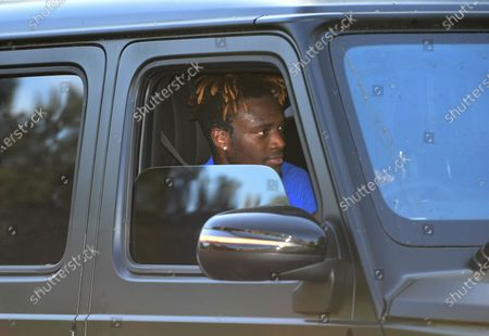 Chelsea's Tammy Abraham leaves training in London, Britain, 19 May 2020. English Premier League clubs resumed training activities in small groups as Britain's lockdown eases amid the ongoing SARS-CoV-2 coronavirus pandemic which causes the COVID-19 disease.