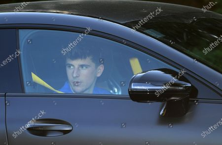 Chelsea's Mason Mount leaves training in London, Britain, 19 May 2020. English Premier League clubs resumed training activities in small groups as Britain's lockdown eases amid the ongoing SARS-CoV-2 coronavirus pandemic which causes the COVID-19 disease.