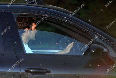 Chelsea's Marcos Alonso leaves training in London, Britain, 19 May 2020. English Premier League clubs resumed training activities in small groups as Britain's lockdown eases amid the ongoing SARS-CoV-2 coronavirus pandemic which causes the COVID-19 disease.