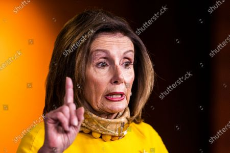 House Speaker Nancy Pelosi of Calif., speaks during a news conference on Capitol Hill, in Washington